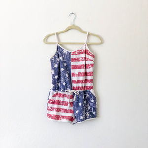 Almost Famous American Flag Romper